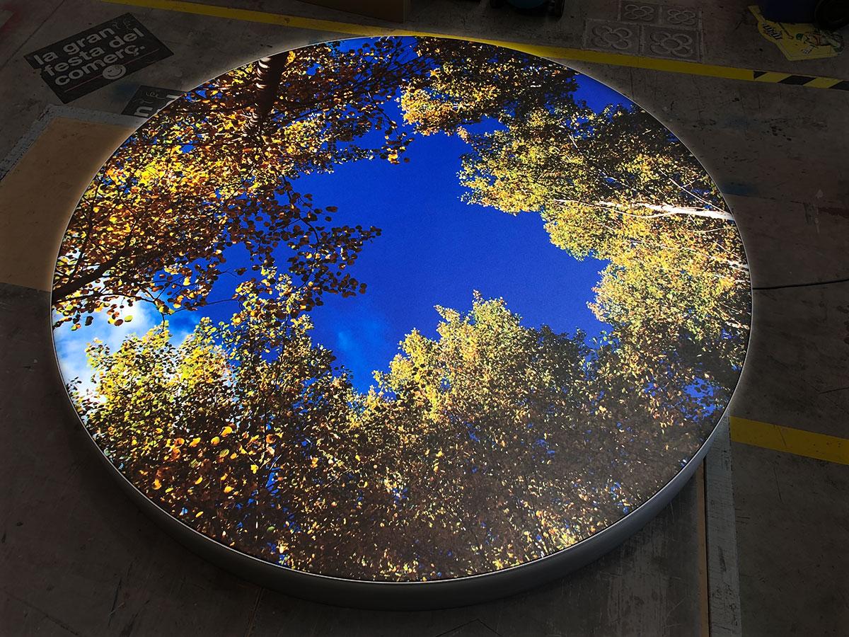 Caixa de llum circular
