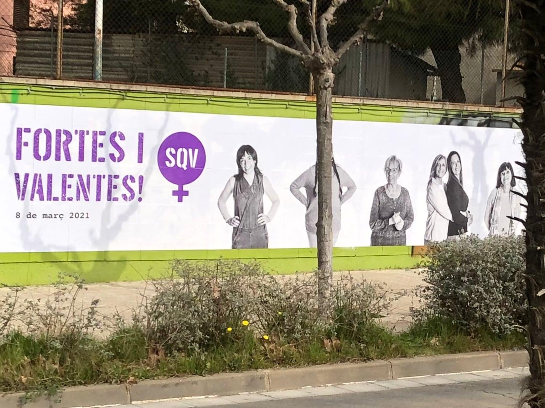 Mural pel Dia Internacional de la Dona